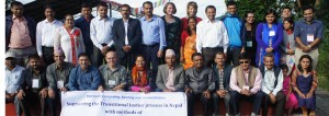 Group photo (participants from National Human Rights Commission and Commission of Investigation on Enforced Disappeared Persons and guests) of NVC training in September 2016  at Balthali, Kavre