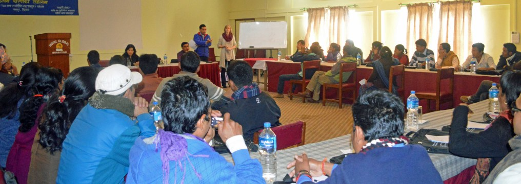 Dialogue facilitators from NPTF project communities in Level 1 training on dialogue facilitation and mediation in Chitwan