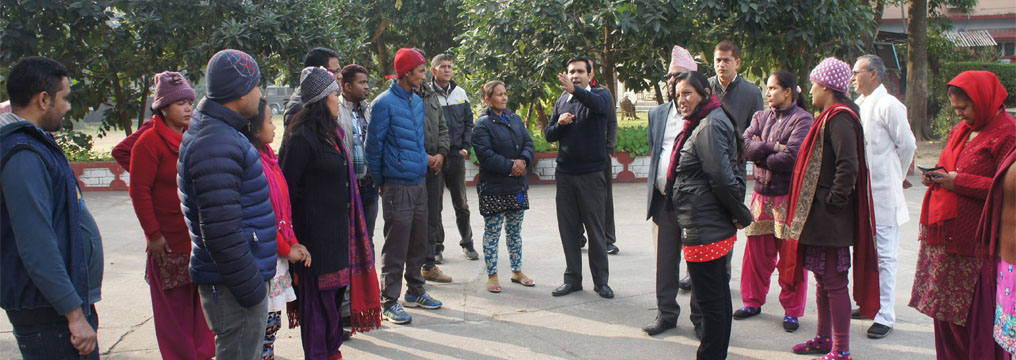 Emergency Preparedness and Safety Brief to Participants of Advanced Training on Dialogue Facilitation and Mediation at Hotel Avocado, Hetauda