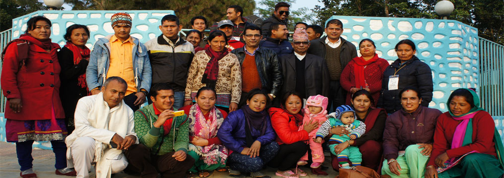 Group photo of participants of advanced training on Sahid Park, Hetauda Makawanpur
