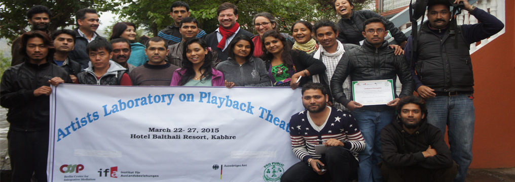 Artist Laboratory on Playback Theater (ToT) at Balthali, Kavre
