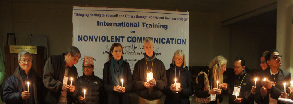 Jacqueline Groth, Deputy Ambassador of Germany to Nepal and Trainers during the opening ceremony of NVC Training