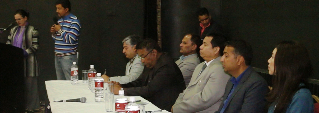 The Chief Guest and Guests in the C2P National Level Experience Sharing Program in Kathmandu