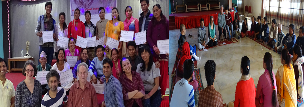 Participants of Skill Enhancement Training with Co-founder of Playback Theatre in Dang