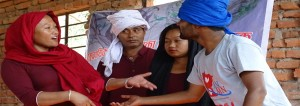 Artists/DFs from Mahottari performing Playback Theatre during the Training