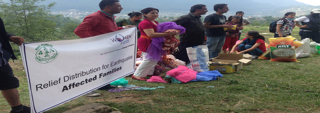 Emergency Relief Distribution for Earthquake affected families in Dharmasthali, Kathmandu