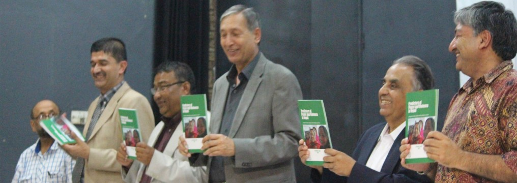 NPC Vice-Chairman, Dr. Yuba Raj Khatiwada, launching a Research Report in a programme in Kathmandu